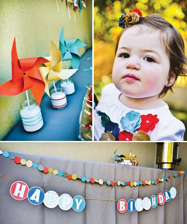 A Cupcake Themed 1st Birthday Party With Paisley And Polka: Pinwheels & Polka Dots First Birthday Party