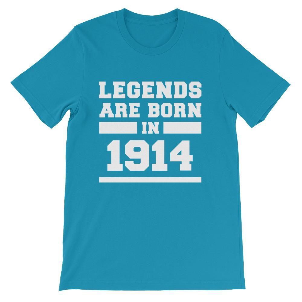 444826e5 Legends Are Born In 1914 Birthday Gift | Festivaller gear | 1964 ...