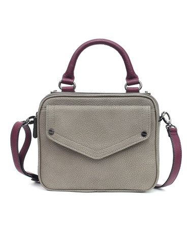 Another great find on #zulily! Gunmetal & Plum Snakeskin Hot Plate Crossbody Bag #zulilyfinds