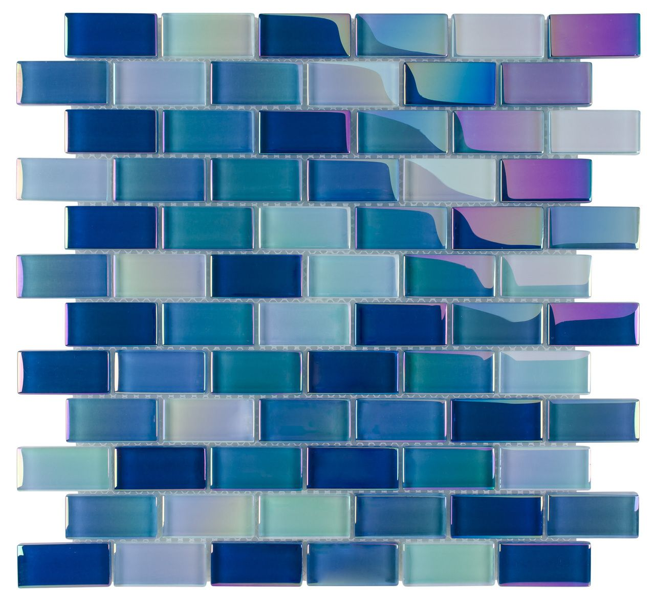 Glass Pool Tile Shimmer Aqua Blue 1x2 | Mineral Tiles $13.95 per ...
