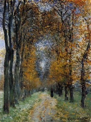"""Oil painting on canvas,""""the avenue"""",by Claude Monet"""