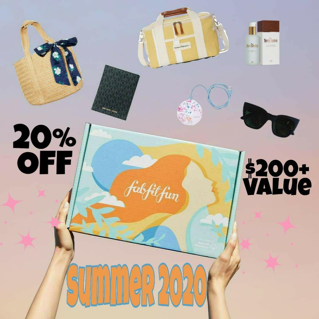 Fabfitfun summer 2020 fab fit fun box fabfitfun