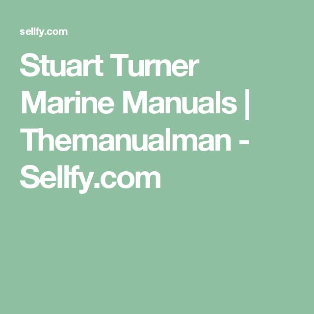 Stuart Turner Marine Manuals Manual Marine Turner