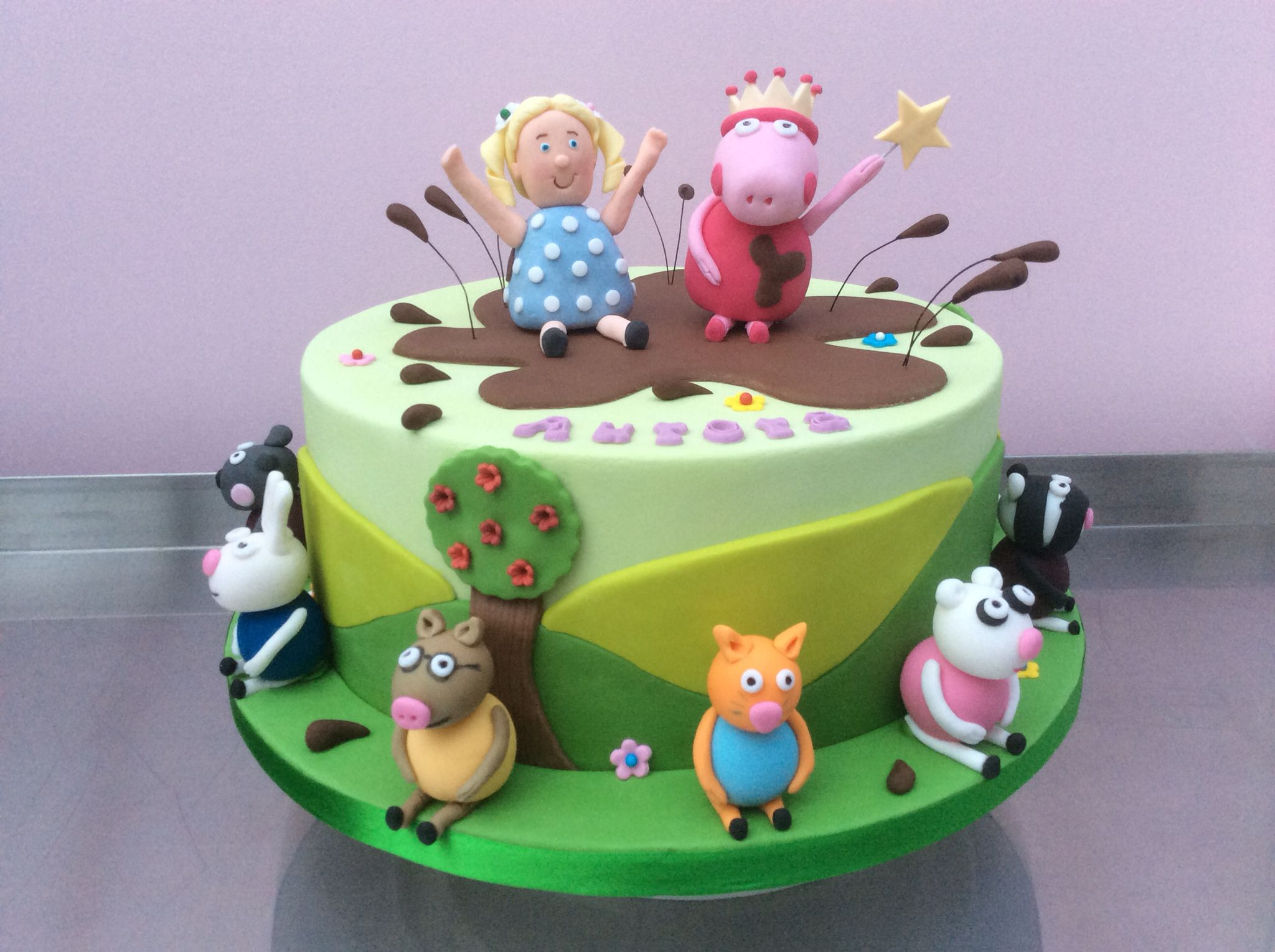 Peppa pig party cake marciaus cakes pinterest pig party and cake