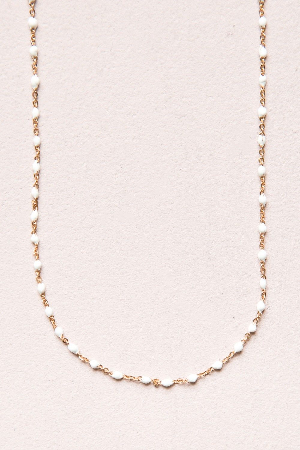 82471b1f350 White Bead and Gold Necklace | Jewelry in 2019 | Pinterest | Jewelry ...