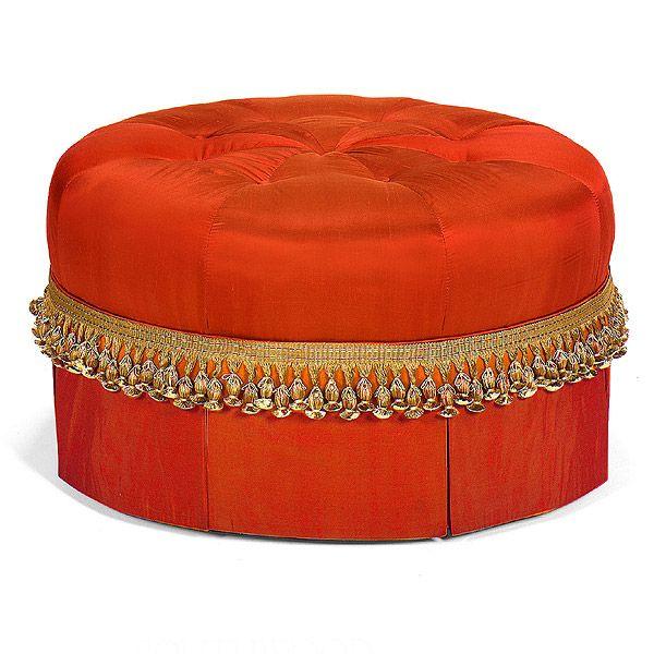 Southwood Furniture Corporation  Fashion Upholstery: Round Tufted Ottoman