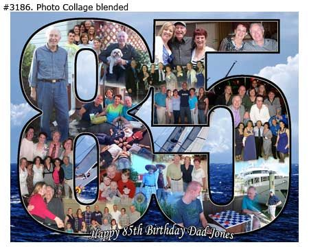 85th Birthday Photo Collage Gift Ideas For Father Mother Grandpa Grandma From Children