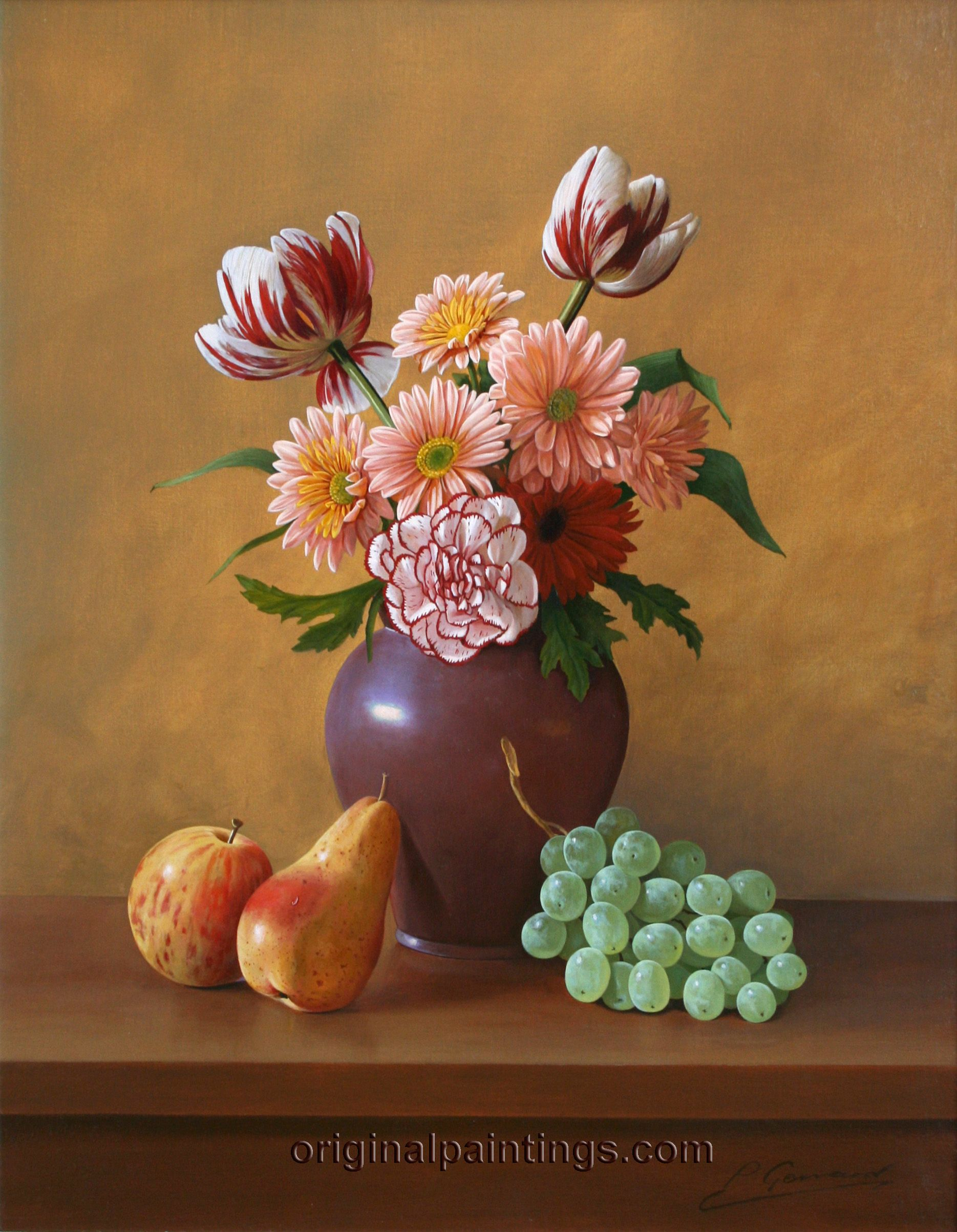 Flowers and Fruit Still Life Photography | philip_gerrard_still_life_with_flowers_and_fruit.jpg