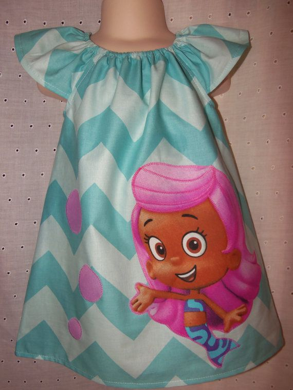 bubble guppies toddler clothing girls custom dress made from bubble guppies fabric sz 2t