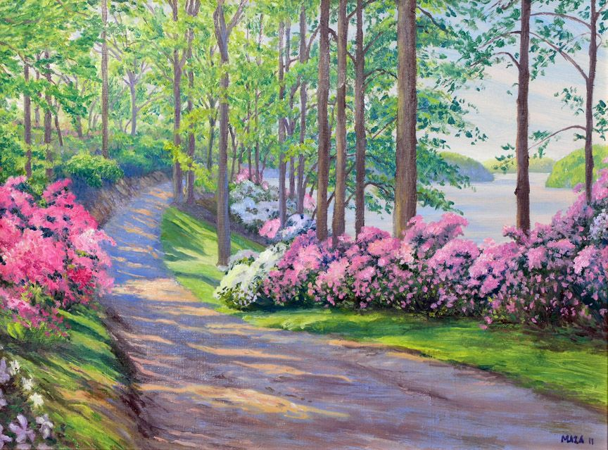 watercolor landscape spring - Google Search | for the love ...