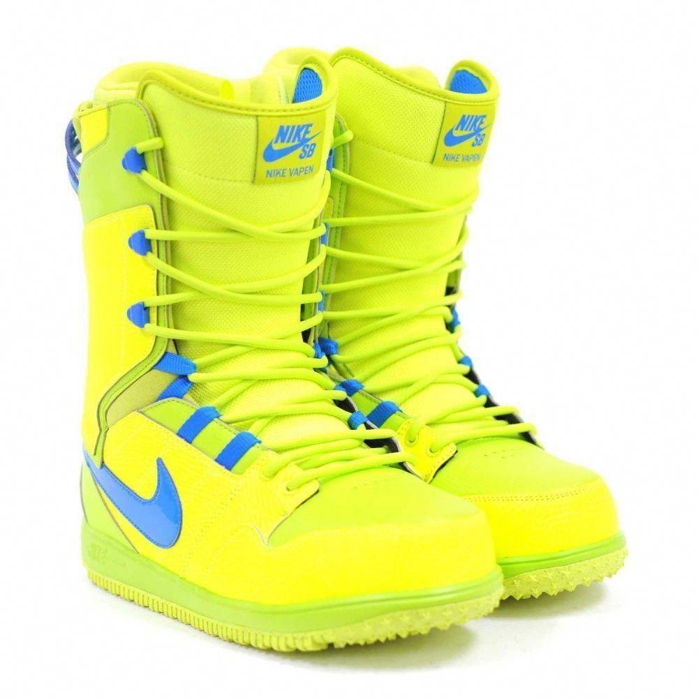 de ahora en adelante Venta ambulante Generalmente  New Nike SB Men's Vapen Snowboard Boots Volt Yellow Blue #Nike $159.99 # SnowboardBoots | Snowboard boots, Boots, Ski boots