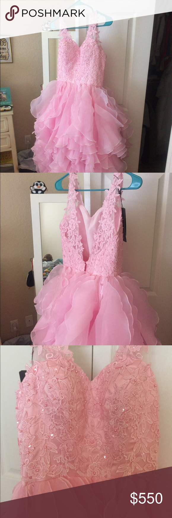 Last chance price firm prom dress pink nwt size never