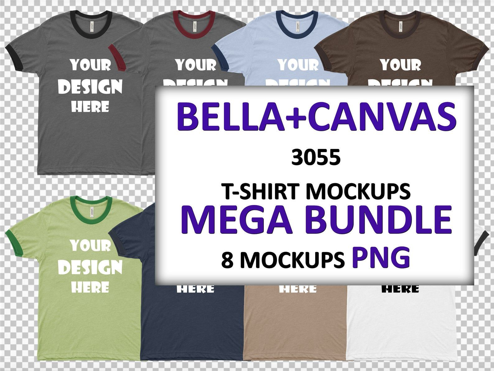 Download Png Bella Canvas 3055 Men S Jersey Short Sleeve Ringer Tee Etsy Ringer Tee Jersey Shorts Bella Canvas