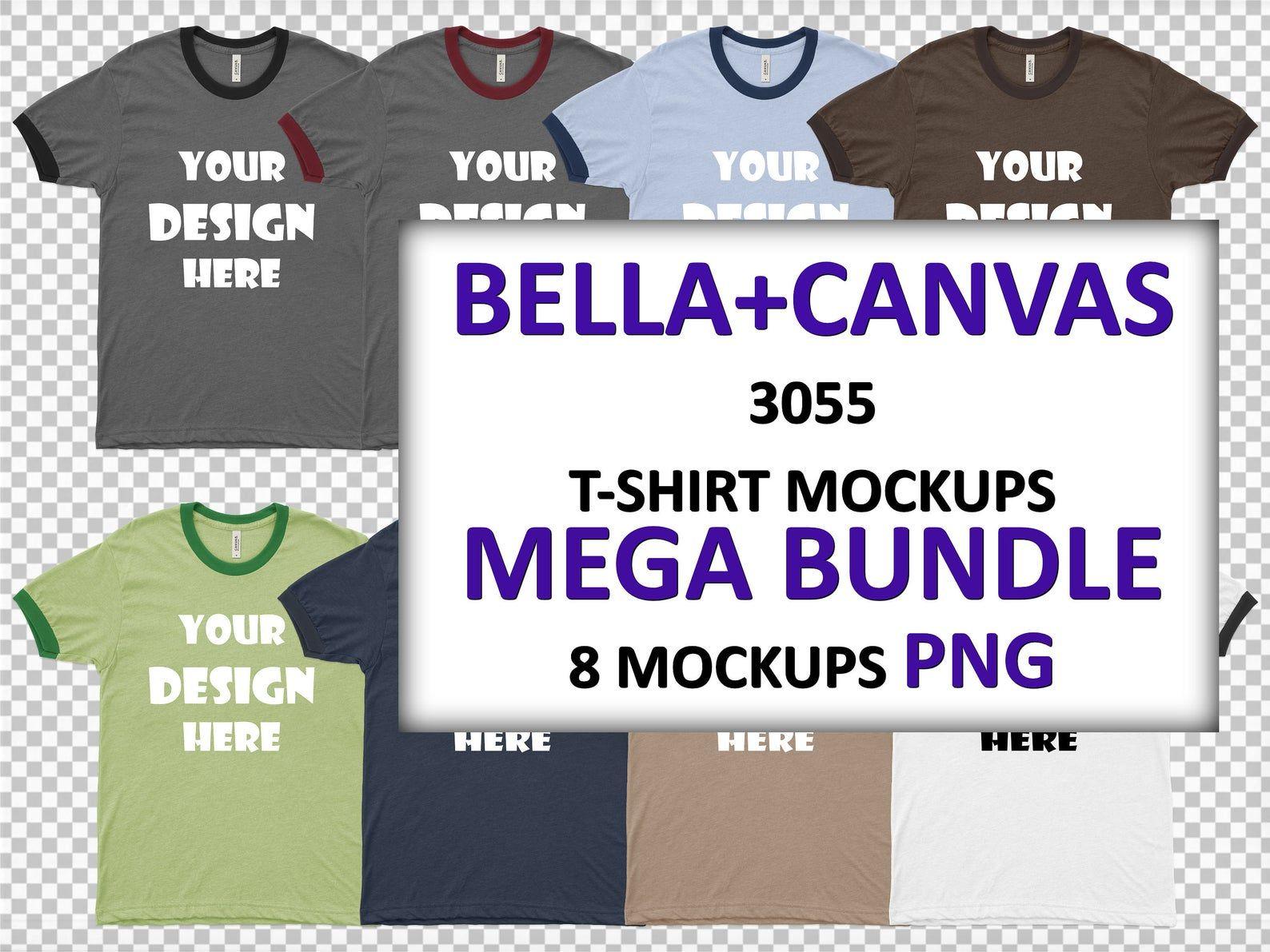 Download Png Bella Canvas 3055 Men S Jersey Short Sleeve Ringer Tee Etsy Ringer Tee Jersey Shorts Bella Canvas