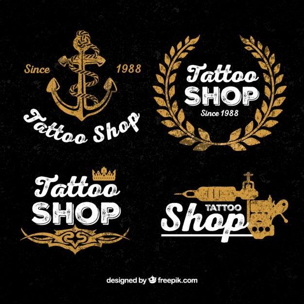 Vintage Tattoo Shop Logos Free Vector Logos Tattoos Tattoo Shop