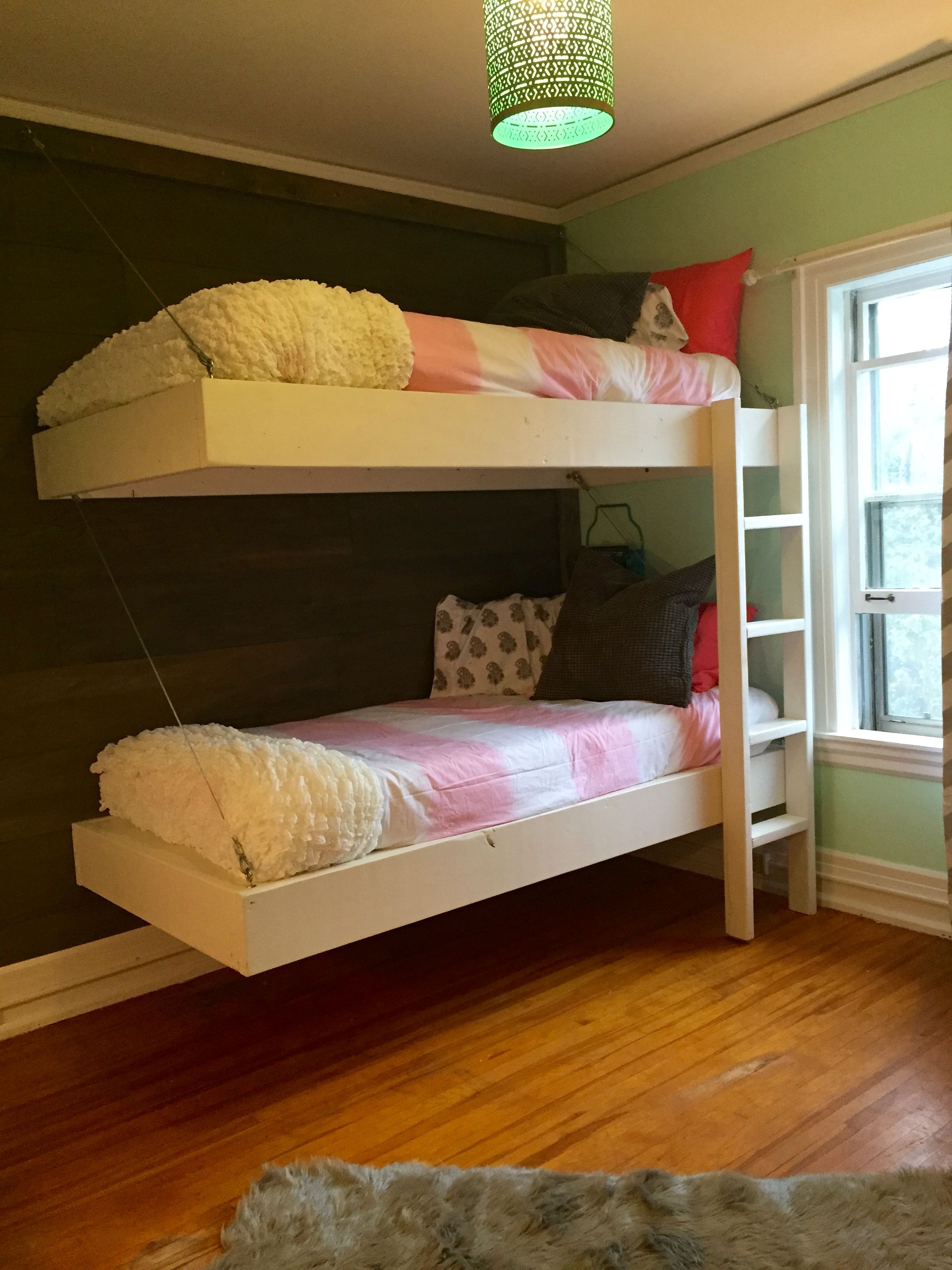 Floating Bunk Beds and Desk Do It Yourself Home Projects