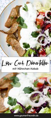 Low Carb Doner Dish mit Salat und Tzatziki  REZEPTE ZURÜCKNEHMEN  Gewichtsverlust Essen   salat