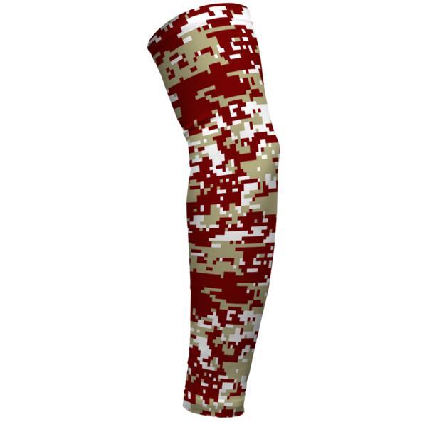 Digital Camo Maroon And Gold Arm Sleeve Arm Sleeve Compression Tights Sleeves