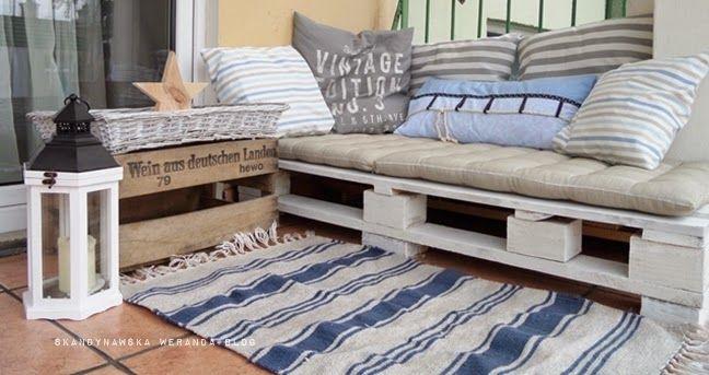 skandynawska weranda balkon w stylu marine ods ona pierwsza balcony pinterest marines. Black Bedroom Furniture Sets. Home Design Ideas