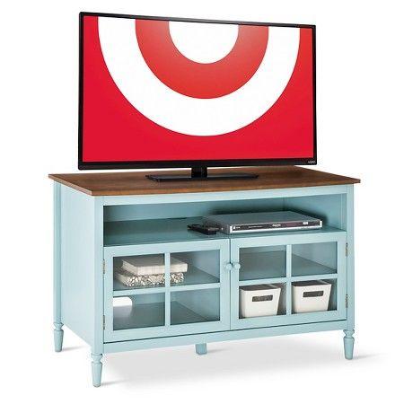 Isabella Glass Door With Open Shelf Tv Stand 47 Quot Target