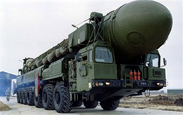 Russian Topol-12M mobile nuclear missile