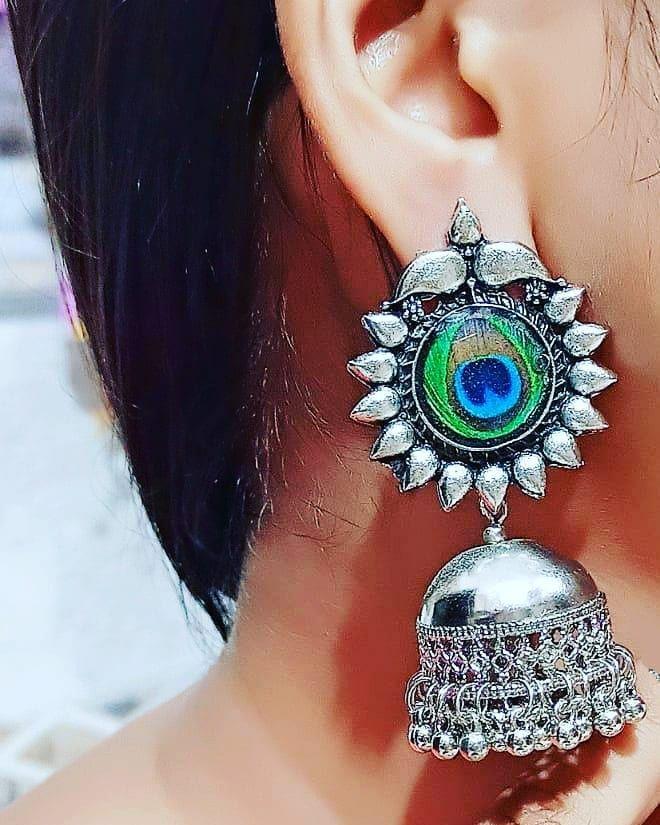 Jhumka ❣️ Price on request ❤️❤️ #oxidisedsilverjewellery #jewelry #jewellerymaker #jewelleryloversofinstagram #loveforjewellery #fashionjewelry #likeforfollowers #likeforlikealways #likeforfollow #followforfollw #celebrityinspiredjewelry #affordable #qualitycheck #goodlook #love #beconfidentinyourself #trendyjewelry #newcollection #fashionable #keepsupporting