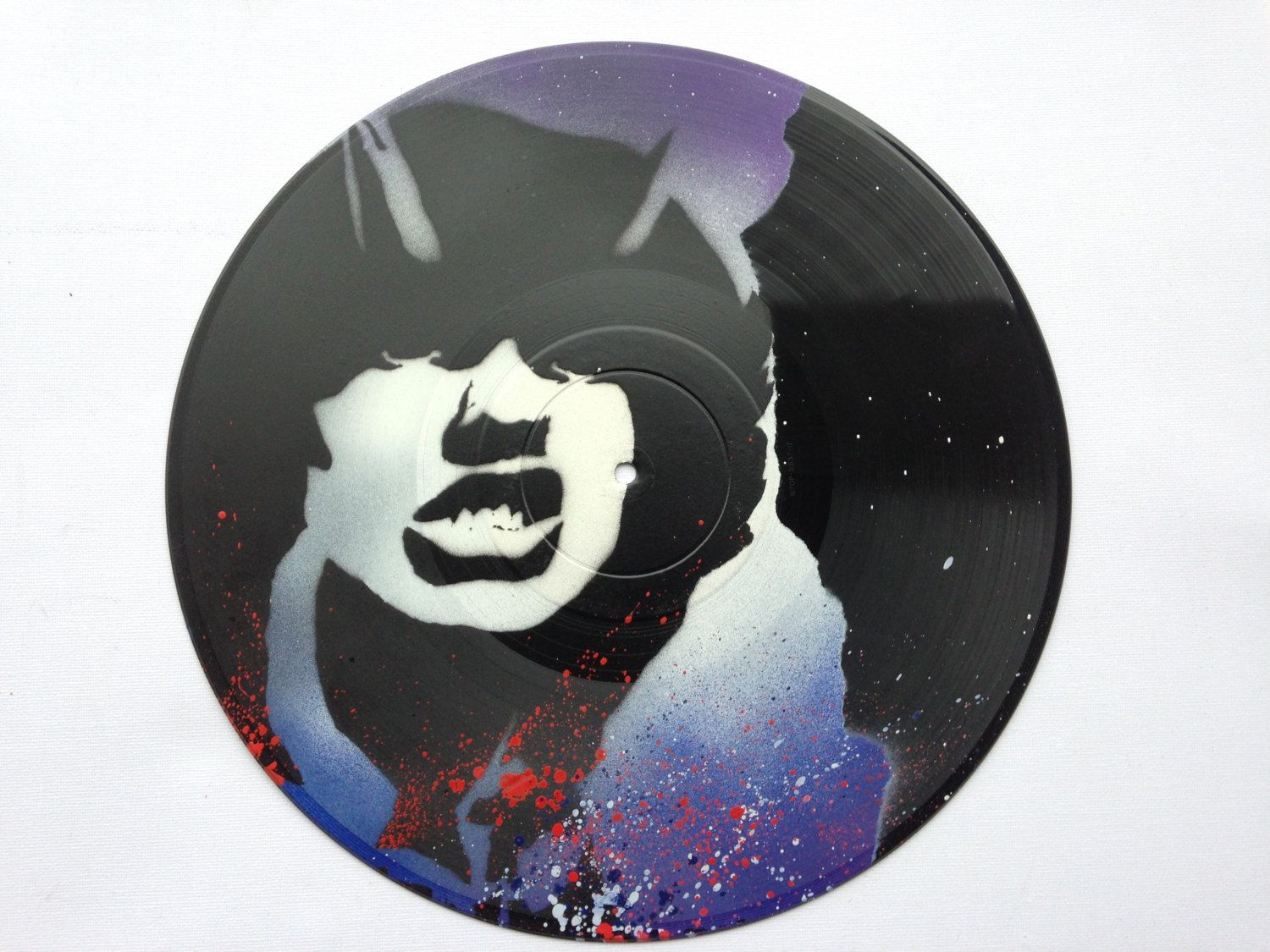 ac dc angus young vinyl record lp 12 spray painting by lillyartglasgow on - Difference Peinture Acrylique Et Vinylique