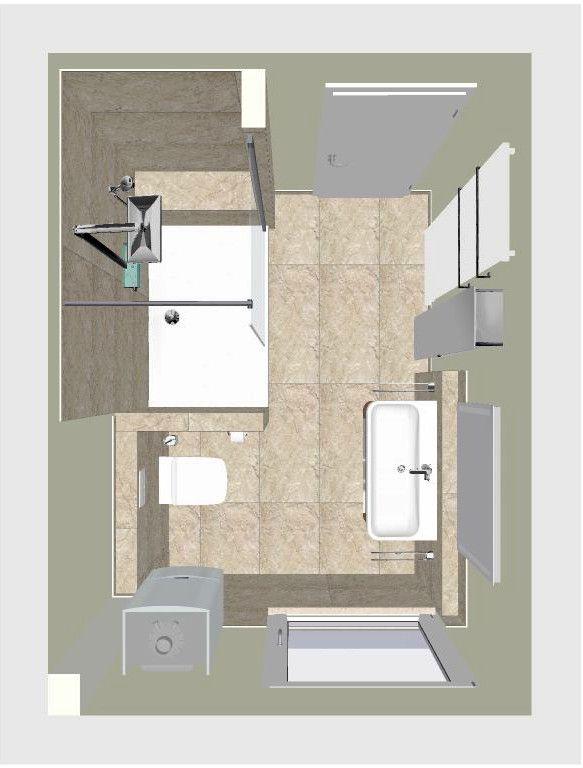 Seniorengerechtes Bad In Naturtonen Badezimmerideen Badezimmer Badezimmer Grundriss