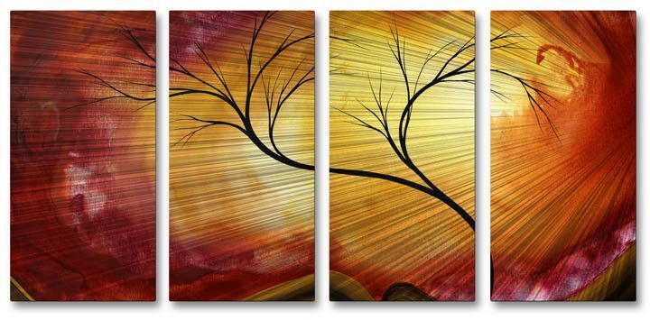 Celestial Warmth\' by Megan Duncanson 4 Piece Original Painting on ...