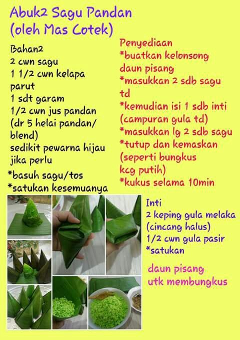 Abuk Abuk Sagu Asian Desserts Malay Food Malaysian Dessert
