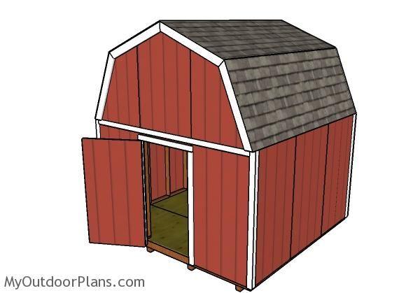 12x12 Barn Shed Door Plans | MyOutdoorPlans | Free Woodworking Plans ...
