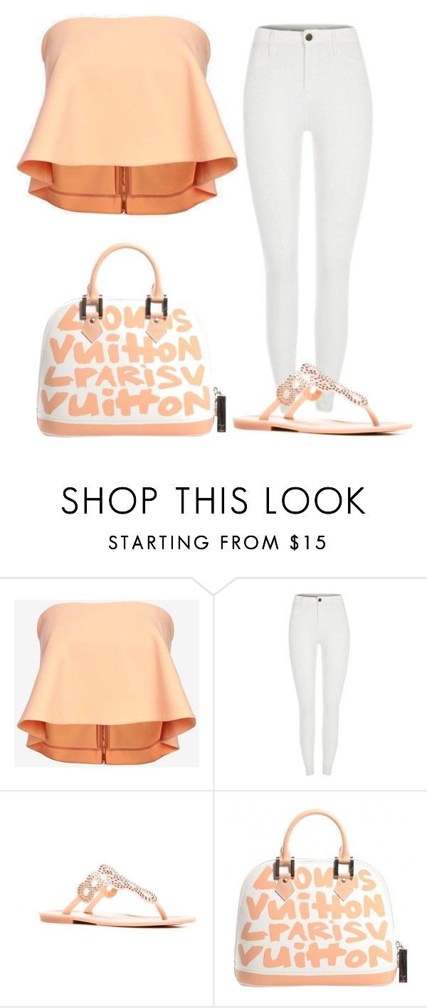 """""""Untitled #579"""" by fashiontaurus on Polyvore featuring Elizabeth and James, Stuart Weitzman and Louis Vuitton"""