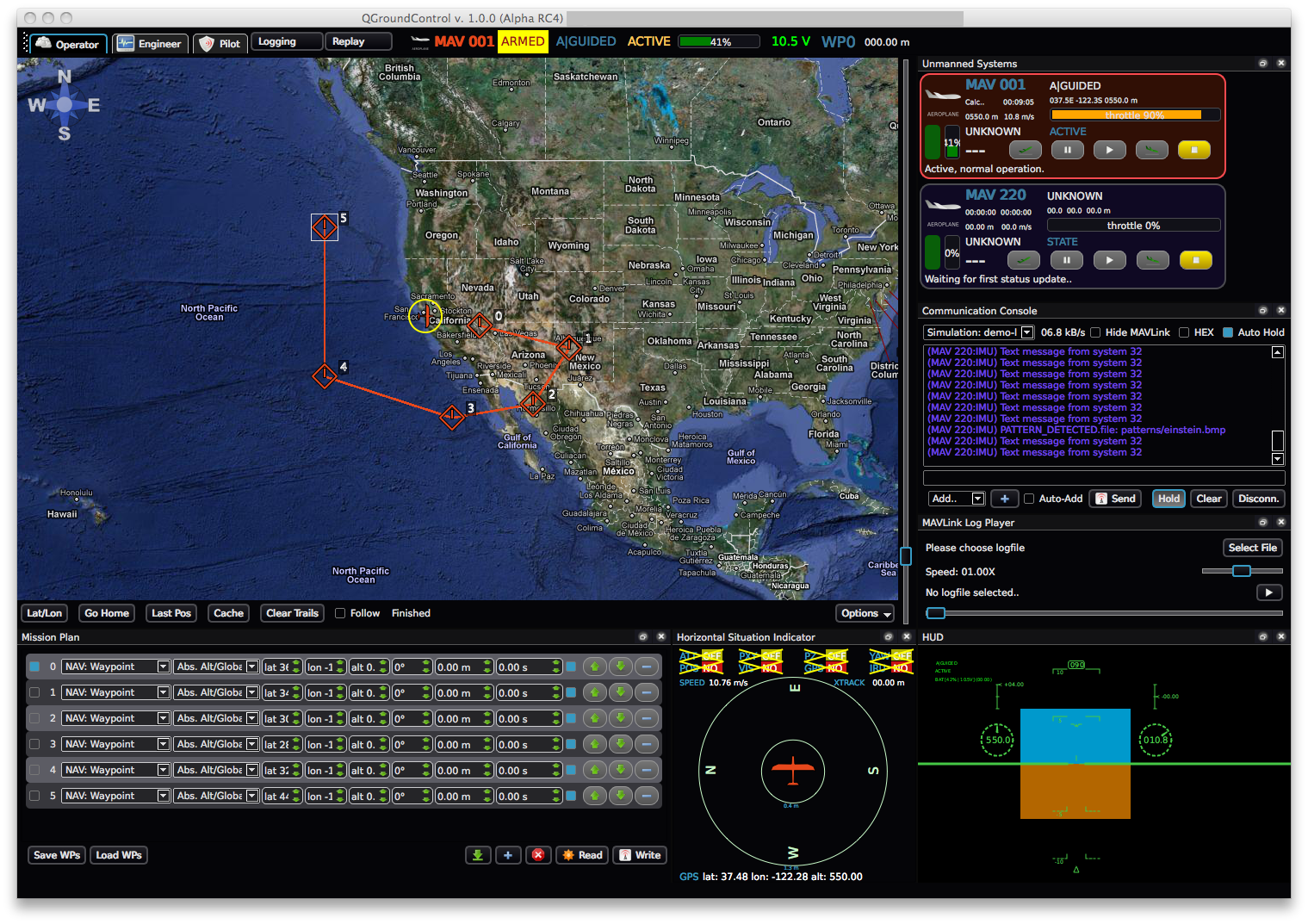 Ground Control Station  Gcs  Example Screenshots
