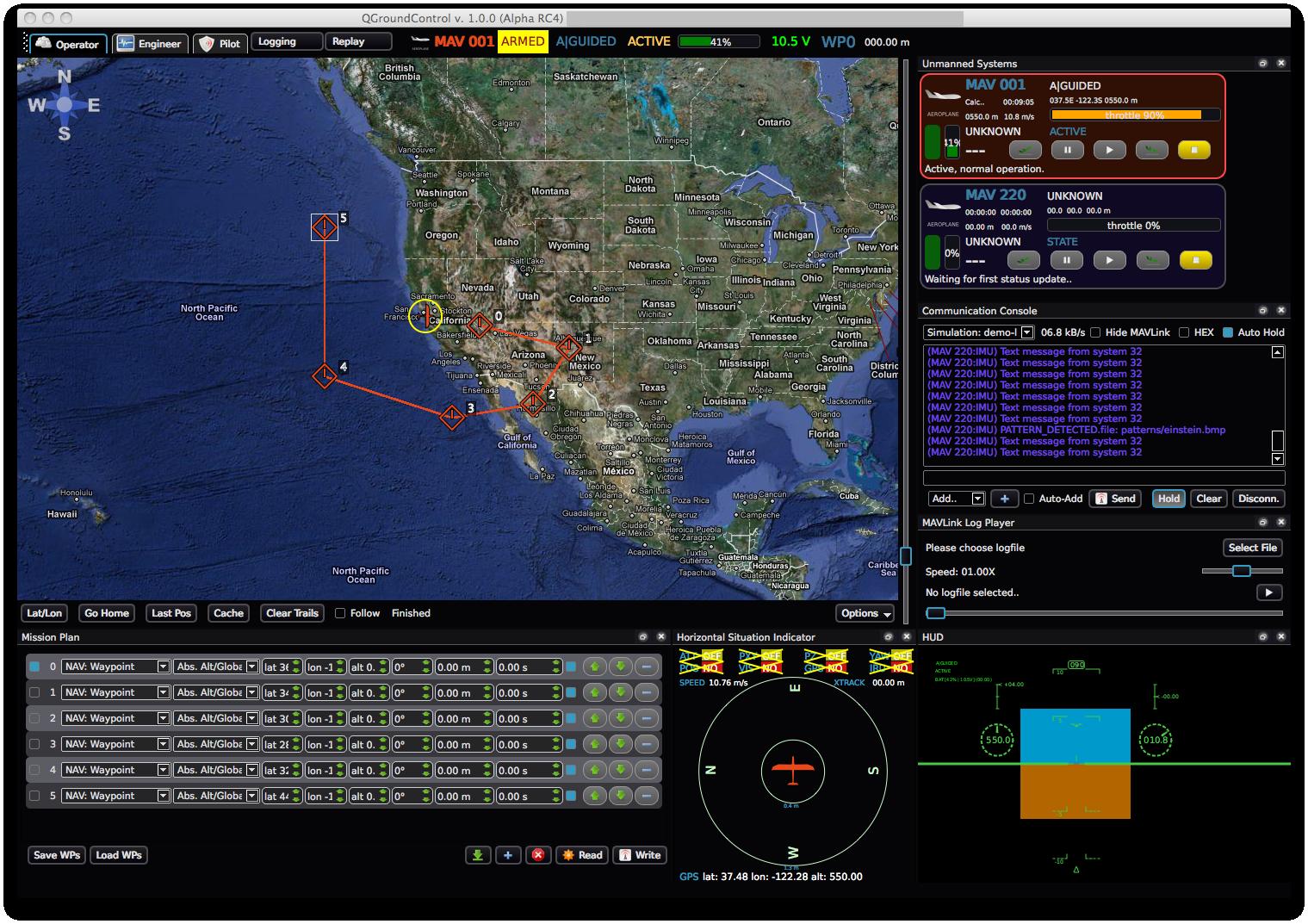 Ground Control Station  Gcs  Example Screenshots