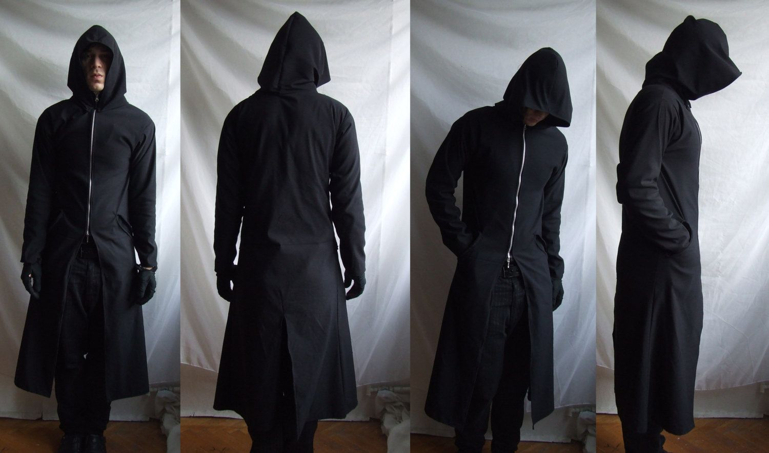 ad25cf167ad GrimReaper TrenchCoat ( long robe with huge hoodie custom made related to  gothic industrial post apocalyptic ). $95.00, via Etsy.