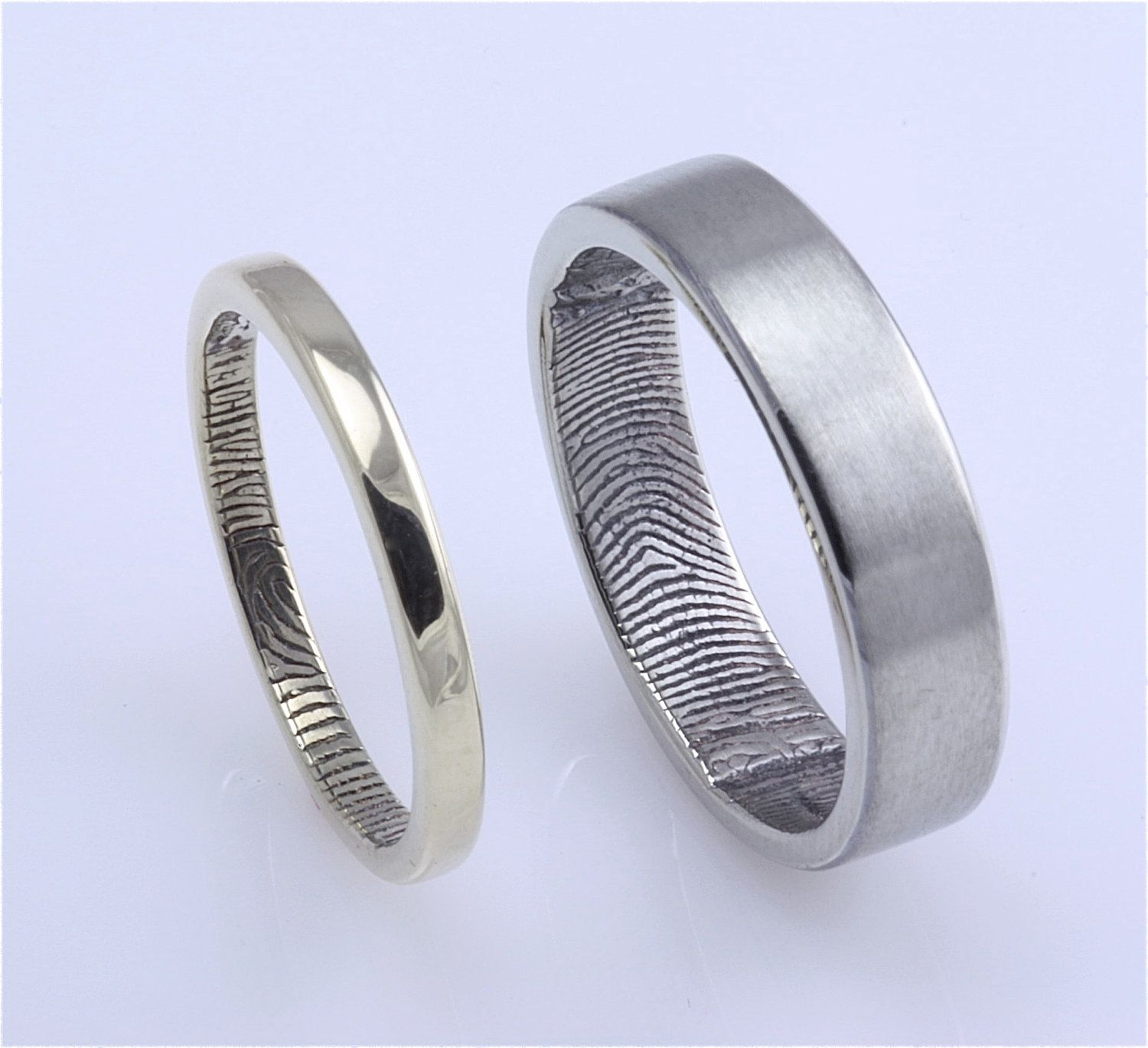 great engraved fingerprint weddings choice your shape ring custom rose set rings itm any they and wedding of for titanium occasion flat becoming customized the with gold fast are couple jewelry from