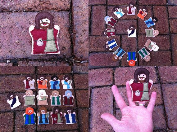 Jesus and Disciples Finger Puppets