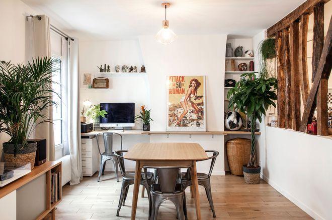 Appartement Paris 18  52 m2 à Montmartre Interiors