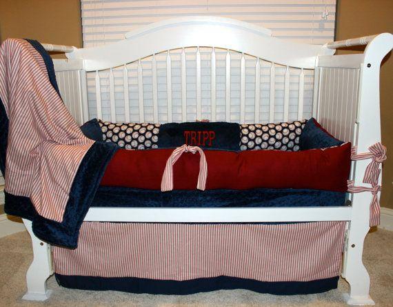 Custom Baby Bedding Vintage Baseball Set By Babiesnbaubles