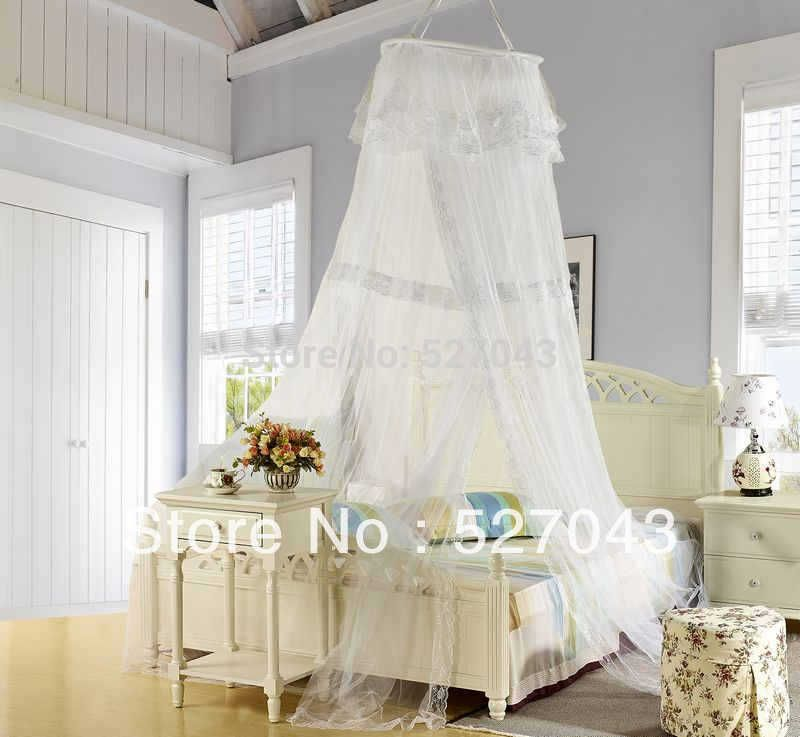 Luxury Bud Silk Bed Canopy Mosquito Net Beds Canapy Bug Fly Bee Netting Mesh Bedroom Curtains : silk bed canopy - memphite.com