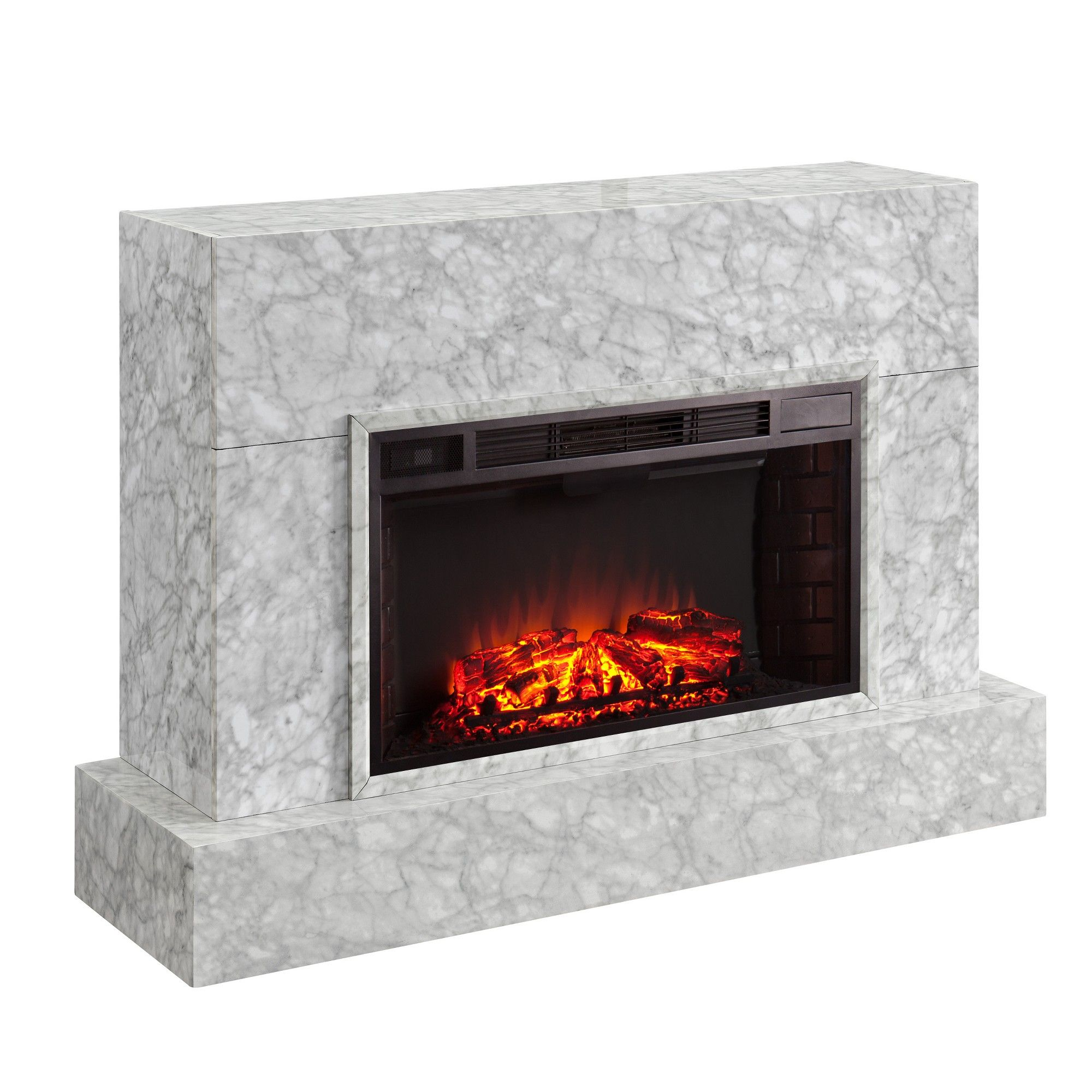 Talloston Electric Fireplace Tv Stand Gray Aiden Lane Best