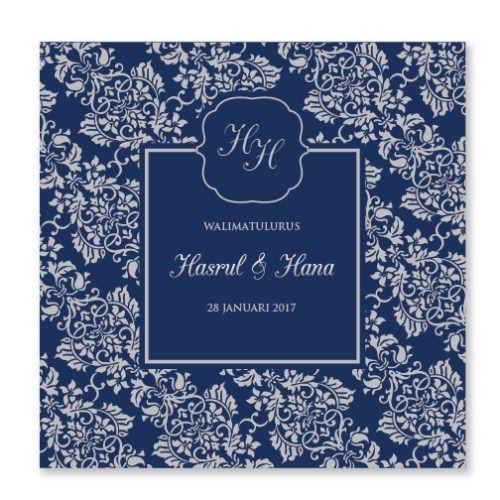 Kad Kahwin Songket 3 Chantiqs Kad Kahwin Kad Kahwin Wedding Cards Modern Wedding Invitations