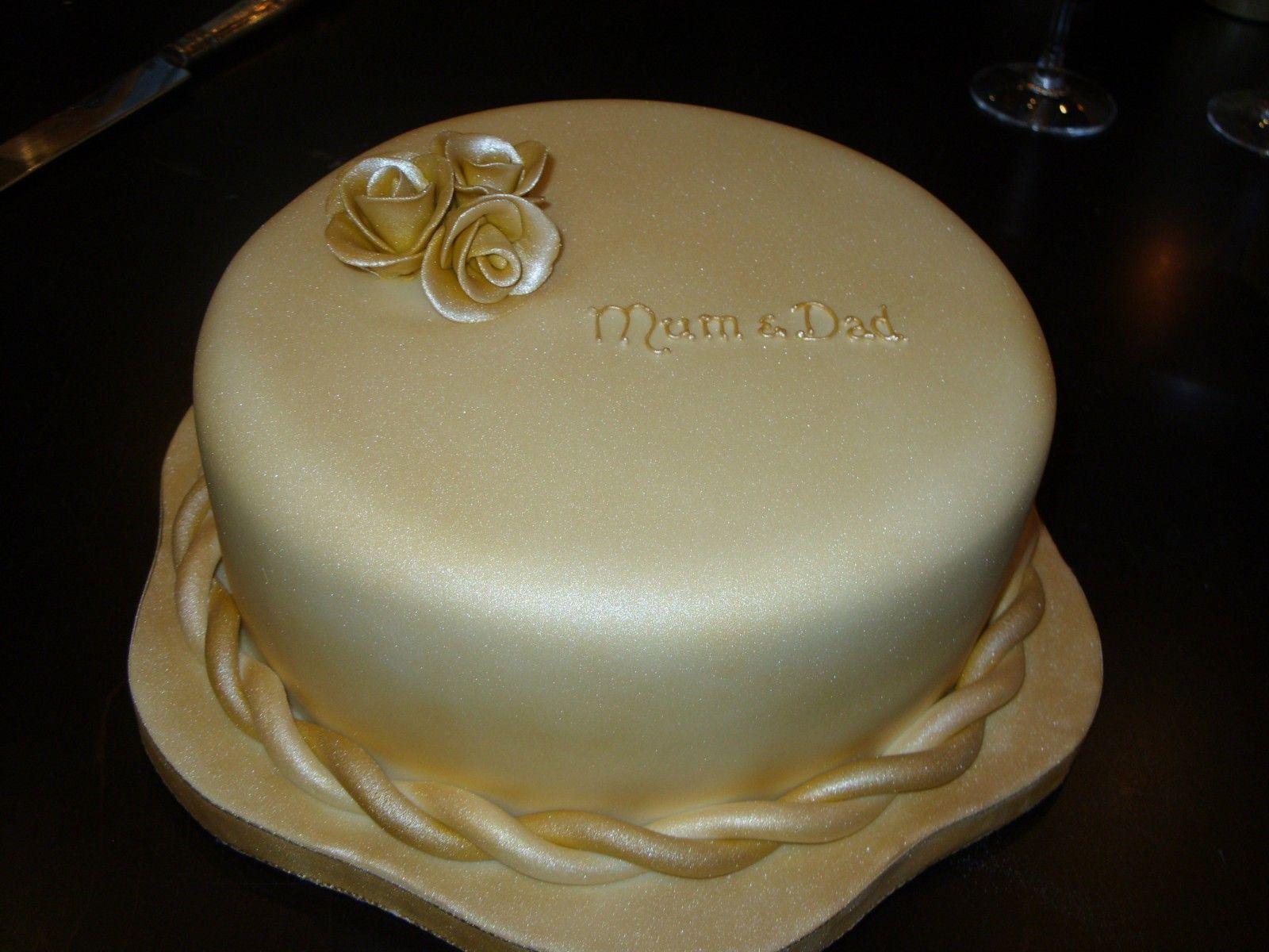 Christmas 50th Anniversary Cake