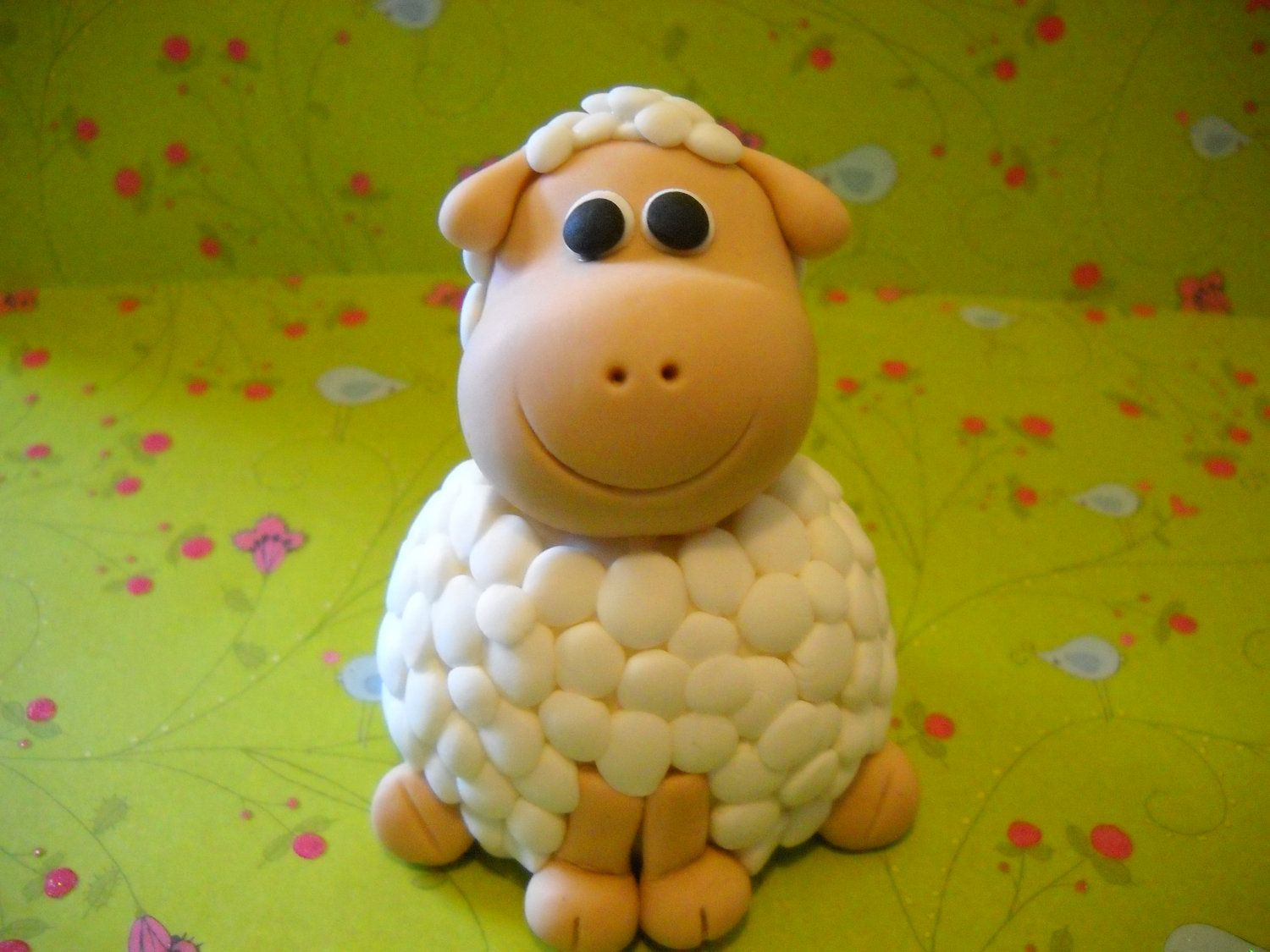 Sugar Paste Cake Decorating Downy Soft Lamb Gum Paste Edible Cake Topper Cake Toppers