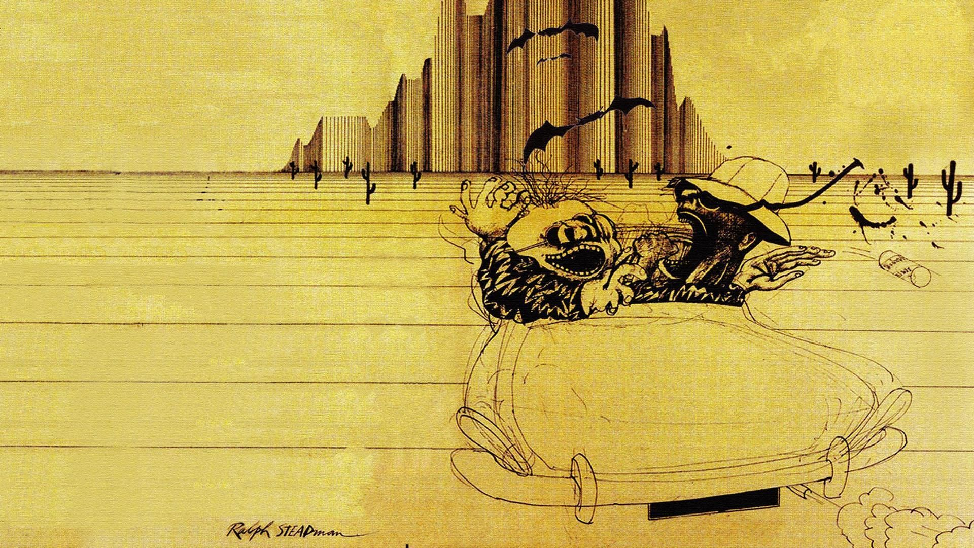 Fear and loathing illustrator ralph steadman psychedelic