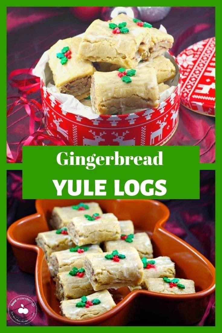 Gingerbread Yule Log Cookies Recipe Food, Dessert