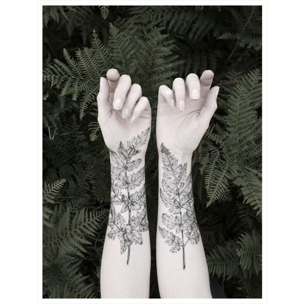 Fern & Crystal Temporary Tattoo Kit - NATURE GIRL From the Forest (€20) via Polyvore featuring accessories, body art, tattoos, pictures, backgrounds e icons