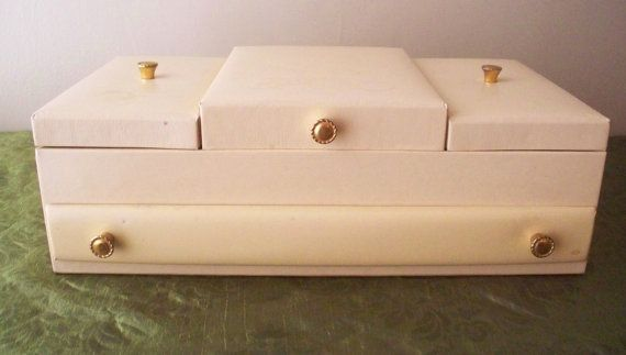 Vintage Lady Buxton Jewelry Box Multilevel Storage Jewelry Organizer