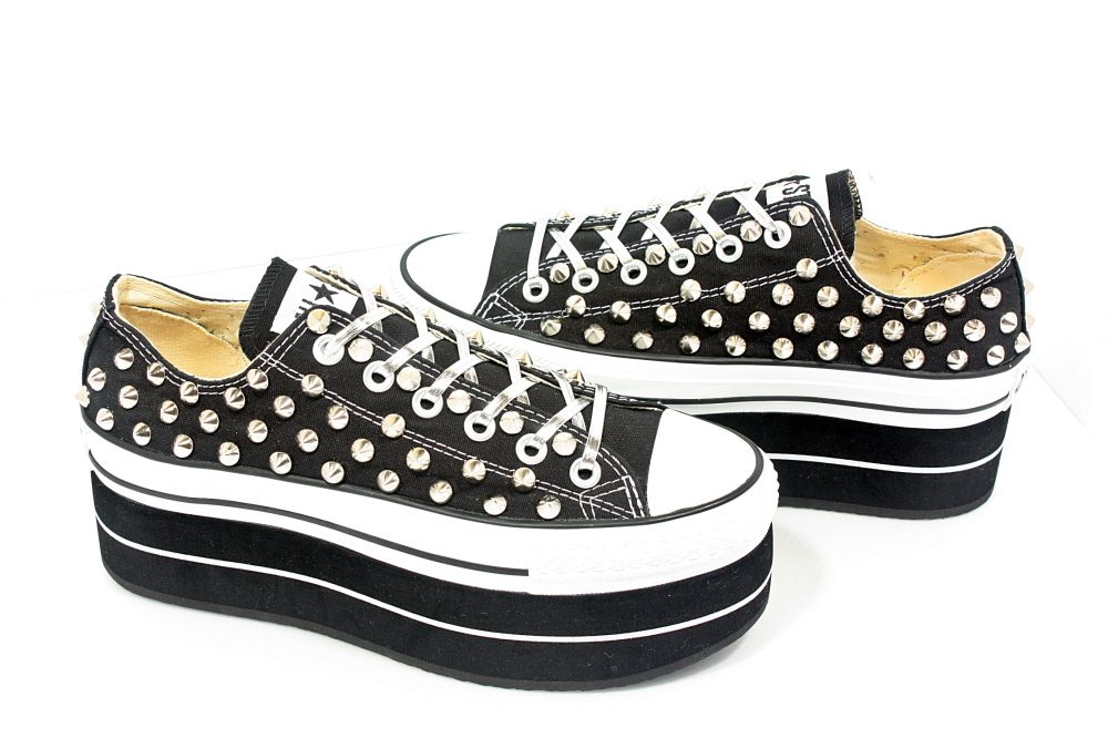 Studded Converse on ETSY  http://www.etsy.com/shop/customduo