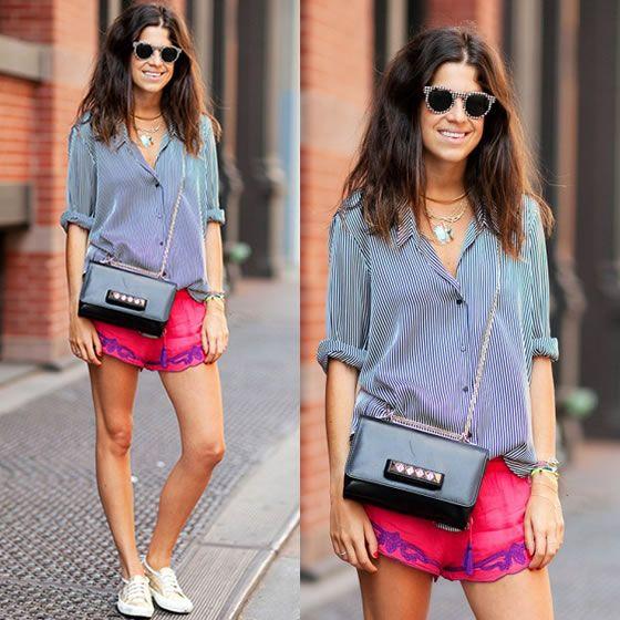 #stealthelook #look #looks #streetstyle #streetchic #moda #fashion #style #estilo #inspiration #clothes #roupas #short #camisa #Pink #stripes #Listras #LeandraMedine #superga